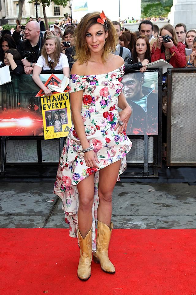 """<a href=""""http://movies.yahoo.com/movie/contributor/1809675017"""">Natalia Tena</a>  Worst: Is Natalia attending a hoedown after the premiere? Mixing cowboy boots with a peekaboo dress with too much peek is a big fashion boo."""