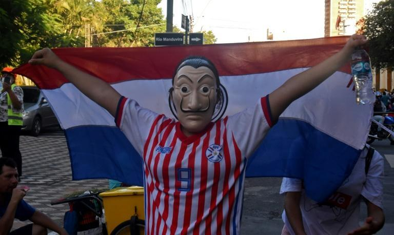 Protestors angry over the Paraguay government's handling of the coronavirus crisis take to the streets