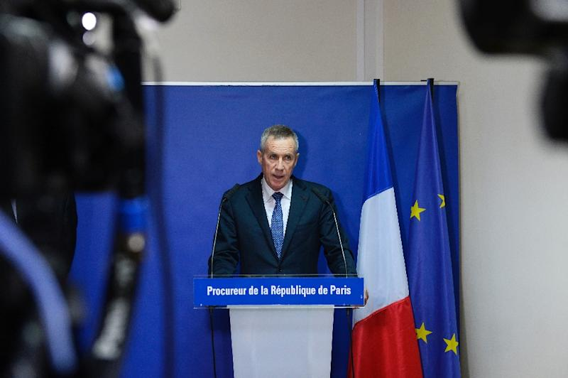 Paris Prosecutor Francois Molins holds a press conference in Paris on November 18, 2015