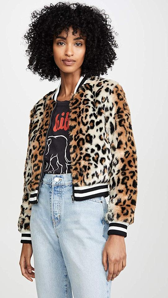"<p>This <a href=""https://www.popsugar.com/buy/Jack-Cat-Power-Leopard-Faux-Fur-Bomber-502968?p_name=Jack%20Cat%20Power%20Leopard%20Faux%20Fur%20Bomber&retailer=amazon.com&pid=502968&price=98&evar1=fab%3Aus&evar9=46772762&evar98=https%3A%2F%2Fwww.popsugar.com%2Ffashion%2Fphoto-gallery%2F46772762%2Fimage%2F46773322%2FJack-Cat-Power-Leopard-Faux-Fur-Bomber&list1=shopping%2Cfall%20fashion%2Camazon%2Ccoats%2Cjackets%2Cwinter%20fashion&prop13=api&pdata=1"" rel=""nofollow"" data-shoppable-link=""1"" target=""_blank"" class=""ga-track"" data-ga-category=""Related"" data-ga-label=""https://www.amazon.com/Jack-Dakota-Juniors-Leopard-Bomber/dp/B07Q61L1VN?s=shopbop&amp;ref_=sb_ts"" data-ga-action=""In-Line Links"">Jack Cat Power Leopard Faux Fur Bomber</a> ($98) looks cool with a graphic tee.</p>"