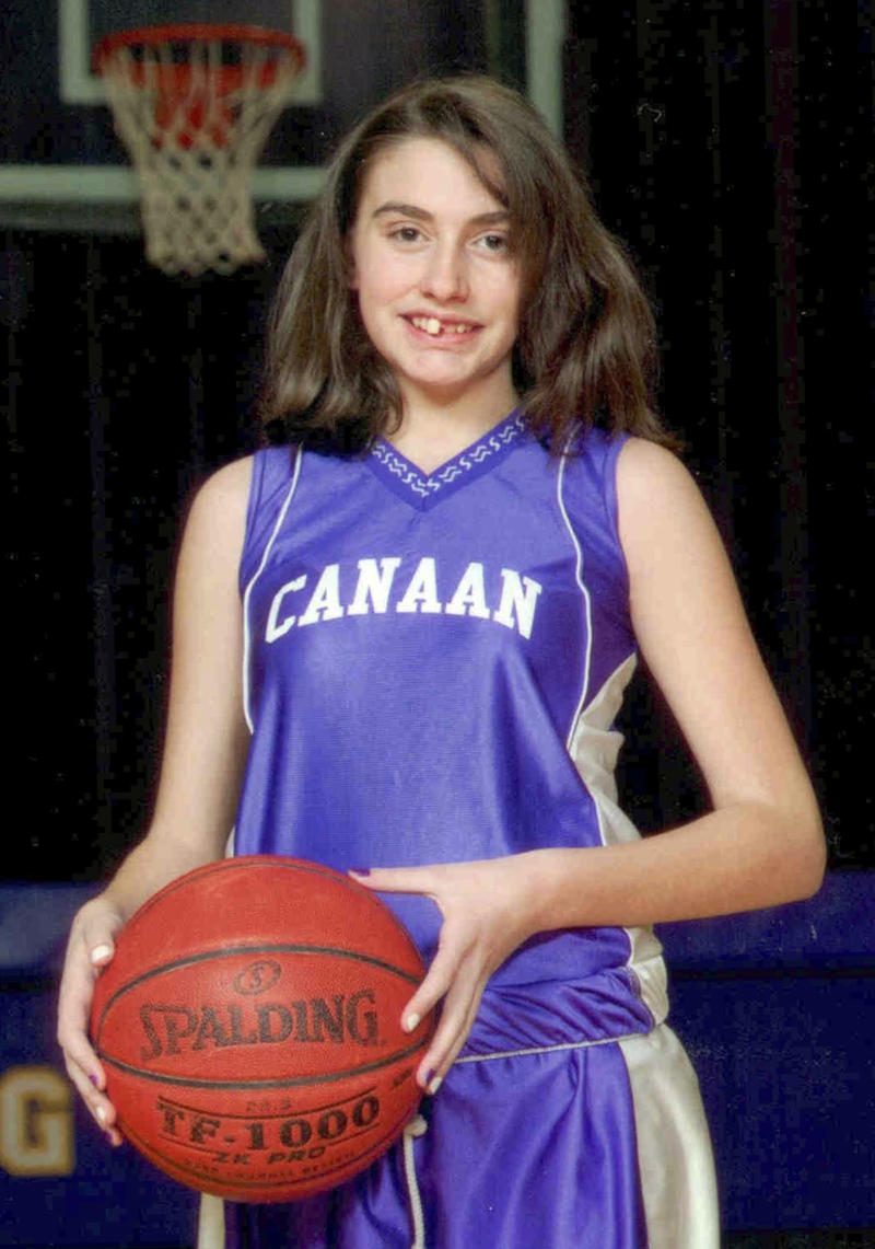 FILE - This 2010 file photo provided by the New Hampshire State Police shows Celina Cass of West Stewartstown, N.H., in a basketball team uniform in Canann, Vt.  The lack of an arrest or answers about how 11-year-old Celina Cass died has cast a pall over her New Hampshire hometown. Searchers pulled her body from the Connecticut River near her house not far from the Canadian border on Aug. 1, more than two weeks ago. Police haven't identified or charged a suspect, and an autopsy was inconclusive. Fears linger that a killer is at large.  (AP Photo/Don Whipple, File)
