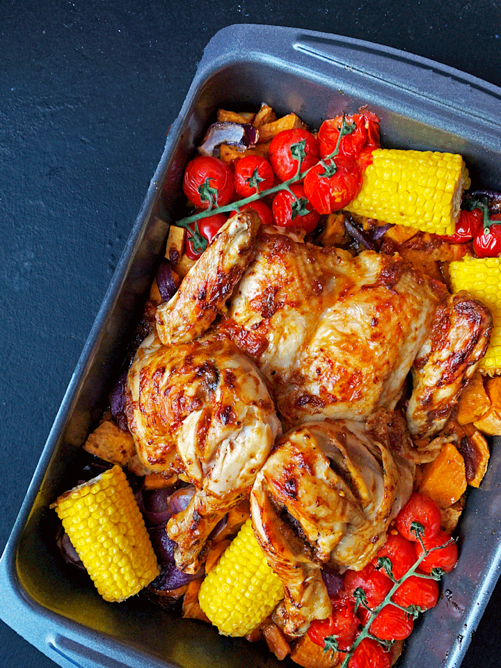 """<p>If you're a big Nando's fan, then we've got the perfect Piri-Piri chicken recipe for you. This oven-roasted chicken is an insanely delicious dinner idea.</p><p>Get the <a href=""""http://www.delish.com/uk/cooking/recipes/a32235057/peri-peri-chicken/"""" target=""""_blank"""">Easy Peri-Peri Chicken</a> recipe. </p>"""
