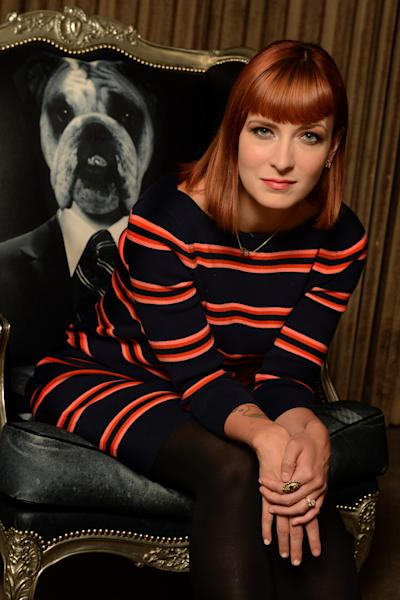 "In this Thursday, Oct. 10, 2013 photo, writer Diablo Cody of the film ""Paradise"" poses for a portrait at the SLS Hotel in Beverly Hills, Calif. After winning an Oscar with her very first screenplay, then inking a TV deal with Steven Spielberg, Cody's introduction to Hollywood has been a starry crash course. The 35-year-old makes her directorial debut with ""Paradise,"" in theaters Friday, Oct. 18, 2013, but writing -- particularly complex, young female characters -- remains her first love. (Photo by Jordan Strauss/Invision/AP)"