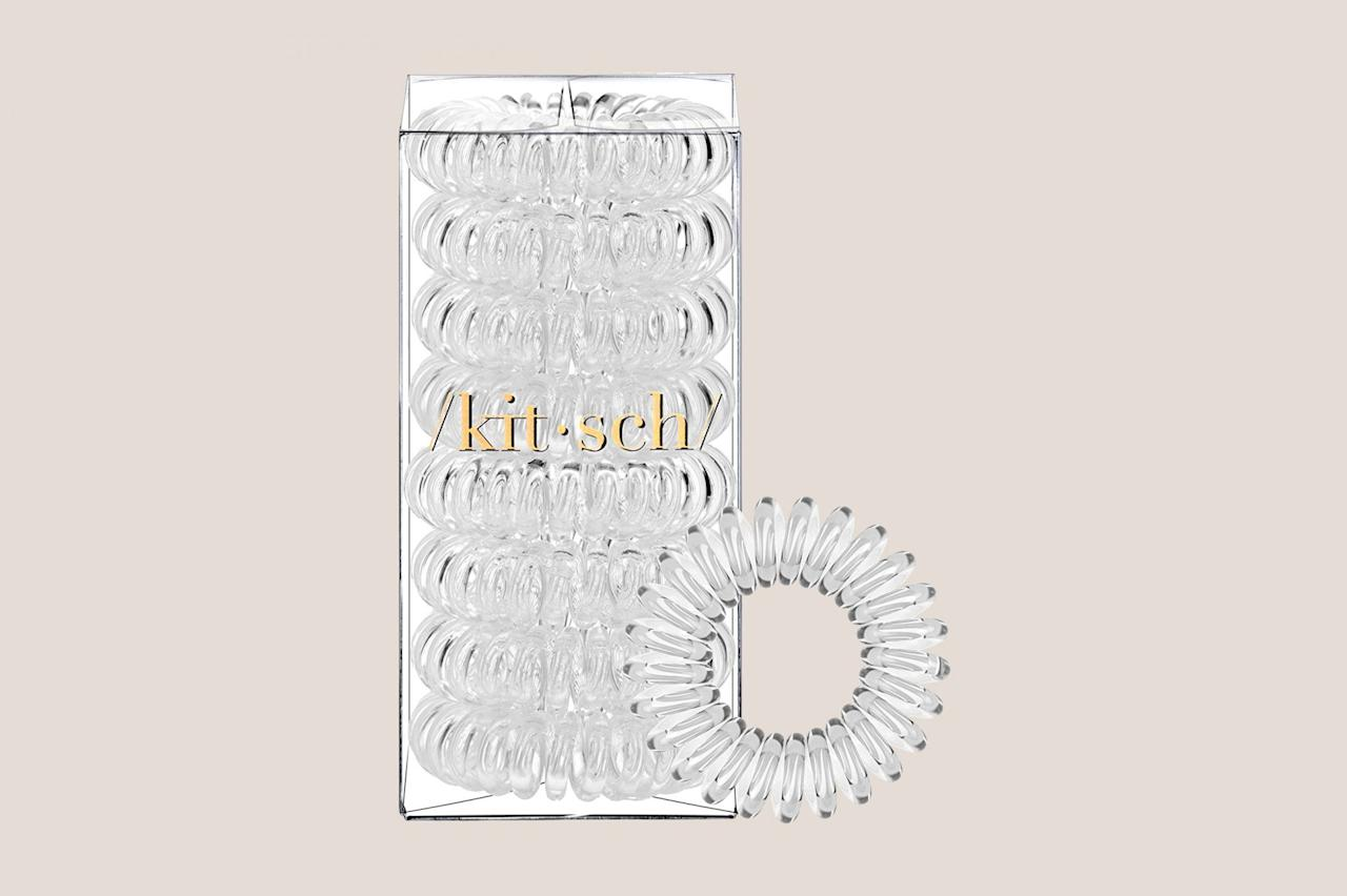 "<p>These coils secure updos without causing headaches or creases—plus their clear design offers endless wearability.</p> <p><strong><em>Shop Now: </em></strong><em>Kitsch Spiral Hair Coils, $8, </em><a href=""https://www.amazon.com/Kitsch-Piece-Rated-Value-Transparent/dp/B07BYRG1G5/ref=as_li_ss_tl?ie=UTF8&amp;linkCode=ll1&amp;tag=mslbeuhairtiesthatwontcrimpordamagehairjsnov19-20&amp;linkId=9bc2bf31c0f92f69c35f7de581a56c8b&amp;language=en_US""><em>amazon.com</em></a><em>.</em></p>"