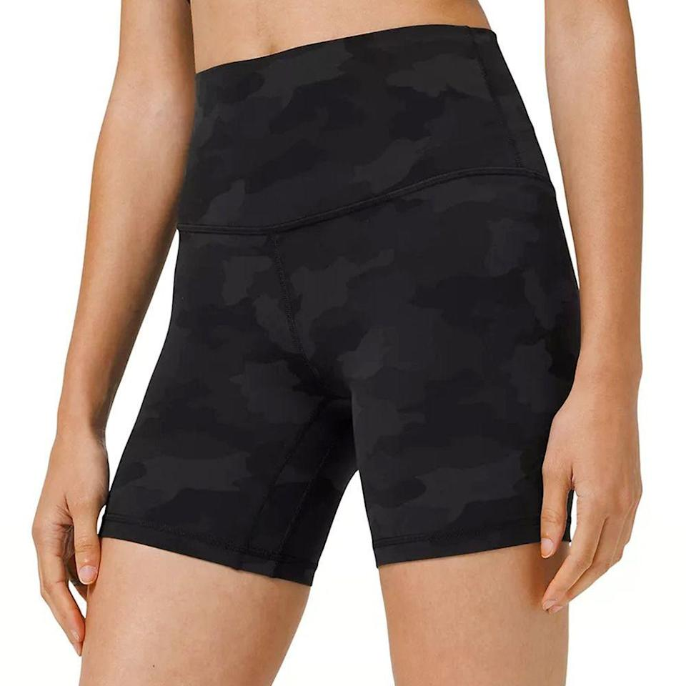 """<p><strong>Lululemon</strong></p><p>lululemon.com</p><p><strong>$58.00</strong></p><p><a href=""""https://go.redirectingat.com?id=74968X1596630&url=https%3A%2F%2Fshop.lululemon.com%2Fp%2Fwomen-shorts%2FAlign-Short-6%2F_%2Fprod8351150&sref=https%3A%2F%2Fwww.bestproducts.com%2Ffitness%2Fclothing%2Fg36229998%2Fbest-biker-shorts%2F"""" rel=""""nofollow noopener"""" target=""""_blank"""" data-ylk=""""slk:Shop Now"""" class=""""link rapid-noclick-resp"""">Shop Now</a></p><p>Depending on your height, you may need to customize your shorts so that they fit you properly. With the Align biker short from Lululemon, you can choose between different inseams. They are made with a nylon and elastane blend, so you'll get stretch and comfort. There are different colors and prints available too, and sizes go up to 20. Most customers found they were true to size, so you can likely go with your normal fit.</p>"""