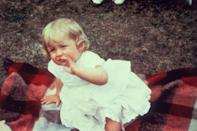 <p>Diana celebrated turning 1 on July 1, 1962, in a sweet little white dress at Park House, Sandringham. </p>