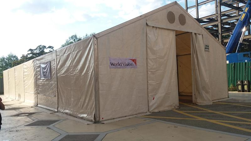 A tent donated by World Vision. Photo: World Vision