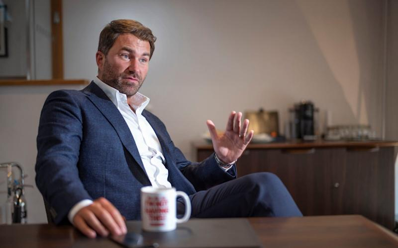 Eddie Hearn at home in Essex - David Rose for The Telegraph