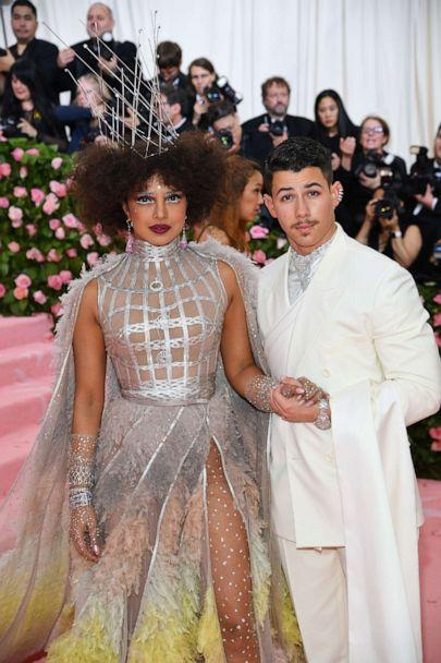PHOTO: Priyanka Chopra and Nick Jonas attend the 2019 Met Gala Celebrating Camp: Notes on Fashion at the Metropolitan Museum of Art, May 6, 2019, in New York City. (Dimitrios Kambouris/Getty Images for The Met Museum)