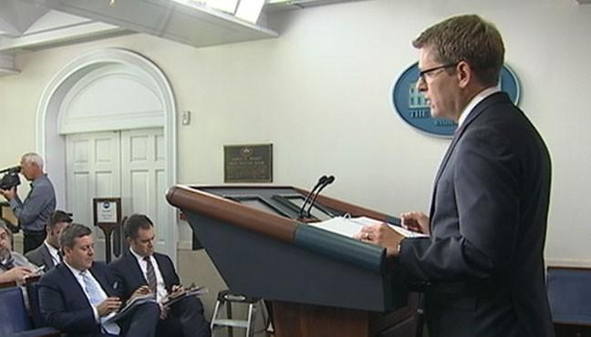 Jay Carney Reacts to Cruz 'Obamacare' Speech at Briefing