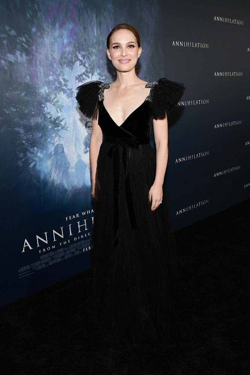 Natalie Portman What: Valentino Where: At the Annihilation premiere, Los Angeles When: February 13, 2018