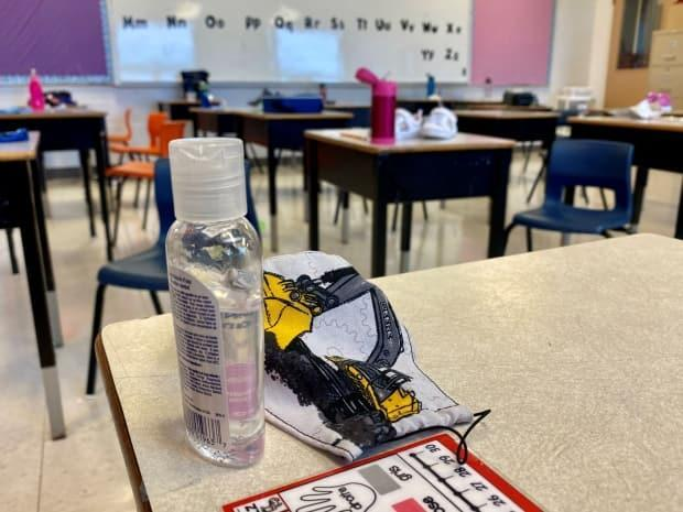 Physical distancing and masking requirements will be gone when Saskatchewan students return to class in the fall, but one parent hopes regular hand sanitizing will continue to be a common practice. (John Robertson/CBC - image credit)