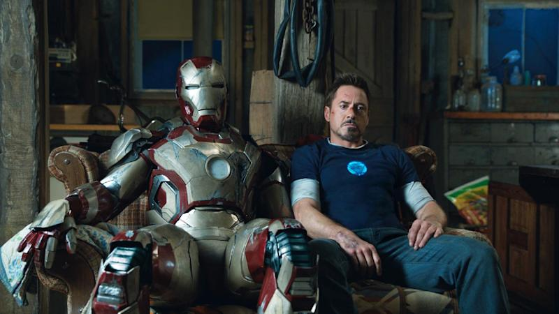 "This film publicity image released by Disney-Marvel Studios shows Robert Downey Jr. as Tony Stark in a scene from ""Iron Man 3."" (AP Photo/Disney, Marvel Studios)"