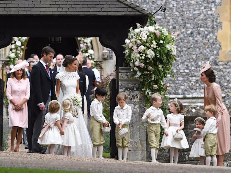 Kate managed to herd all the children singlehandedly. Source: Getty
