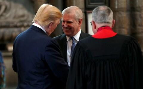 Donald Trump and the Duke of York inside Westminster Abbey in June 2019 - Credit: Chris Jackson