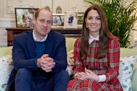 <p>Kate Middleton broke the rule of not wearing tartan past the holiday season to wish hospital workers in Scotland (tartan is closely associated with the country) a happy Burns Night alongside Prince William in January.</p>