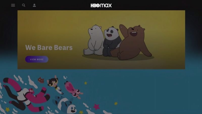 HBO Max kids show page