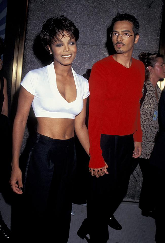 """Janet Jackson kept her marriage to Rene Elizondo a secret for nine years in an effort to have """"a normal family life."""" No one knew they were husband and wife until Elizondo filed for divorce in 2000 citing irreconcilable differences. """"We actually became more business and creative partners than lovers,"""" he said. Ron Galella/<a href=""""http://www.wireimage.com"""" target=""""new"""">WireImage.com</a> - September 4, 1995"""