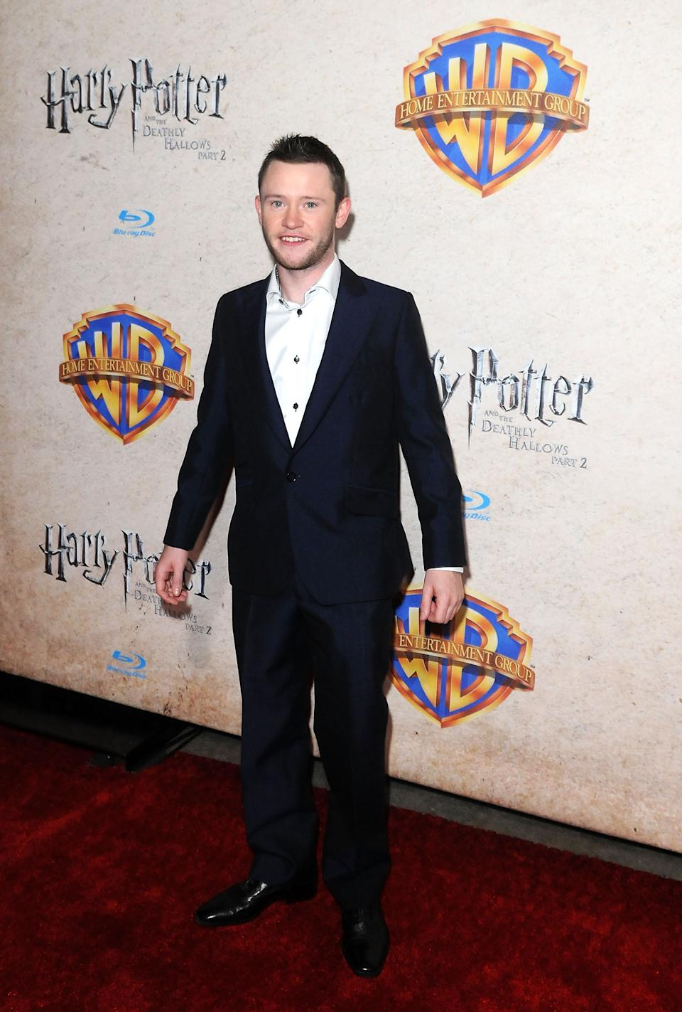 ORLANDO, FL - NOVEMBER 12:  Actor Devon Murray arrives at the Harry Potter and the Deathly Hallows: Part 2 Celebration at Universal Orlando on November 12, 2011 in Orlando, Florida.  (Photo by Gerardo Mora/Getty Images)