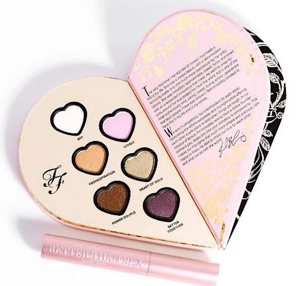 The Inside Of The Kat Von D And Too Faced Palette Is More