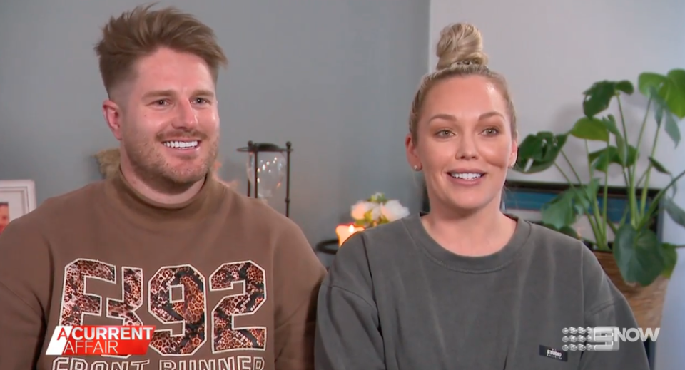 MAFS' Bryce and Melissa on A Current Affair