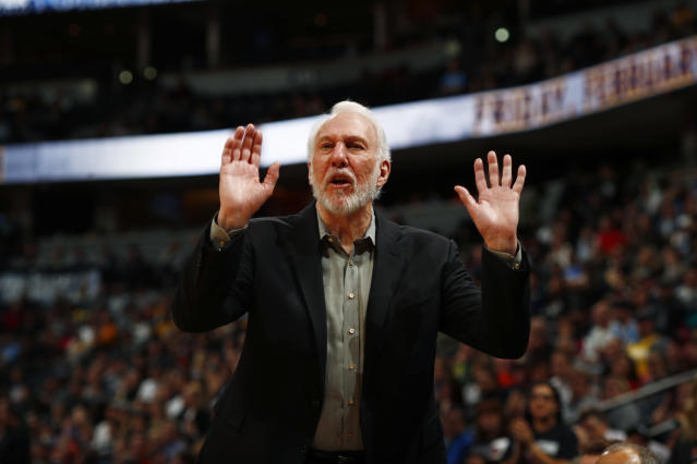Gregg Popovich wanted Donald Trump to meet with protestors Sunday. (AP Photo/David Zalubowski)