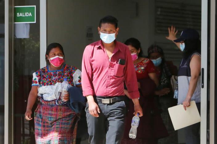 Members of Guatemalan Maya families, who feared their relatives were among 19 bodies found shot and burnt at the weekend in a remote part of northern Mexico, arrive to the Faculty of Medicine for DNA samples to help in the identification, in Guatemala City