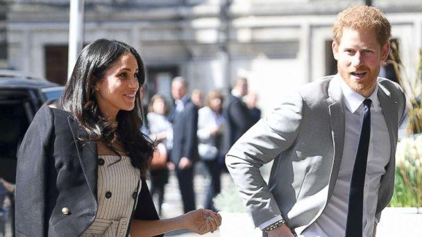 PHOTO: Prince Harry and Meghan Markle attend a reception with delegates from the Commonwealth Youth Forum at the Queen Elizabeth II Conference Centre as part of the Commonwealth Heads of Government meeting, April 18, 2018. (Andrew Parsons/i-Images/Polaris)