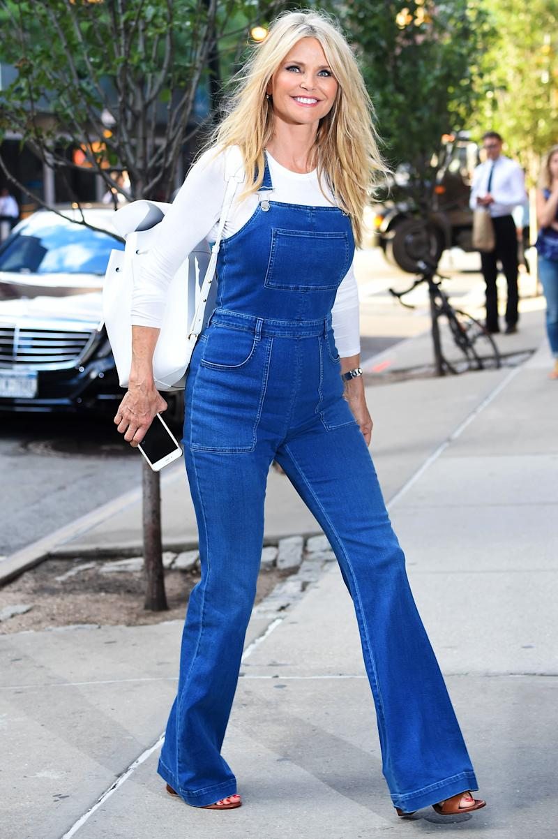 most desirable fashion on feet at top-rated original Christie Brinkley Strikes a Pose in '70s-Style Denim Overalls