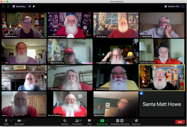 The Michigan Association of Professional Santas meets regularly via Zoom to discuss creative ways to still perform this holiday season amid the COVID-19 pandemic.
