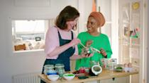 """<p>In this cooking series, author and chef Nadiya Hussain (who won the BBC's <strong>The Great British Bake Off</strong> back in 2015) offers quick and easy meal tutorials perfect for busy families. If you're stoned, you'll get major munchies, so make sure you have something to nosh on nearby.</p> <p><a href=""""https://www.netflix.com/search?q=Nadiya%E2%80%99s%20Time%20to%20Eat&amp;jbv=81185359"""" class=""""link rapid-noclick-resp"""" rel=""""nofollow noopener"""" target=""""_blank"""" data-ylk=""""slk:Watch Nadiya's Time to Eat on Netflix now."""">Watch <strong>Nadiya's Time to Eat</strong> on Netflix now.</a></p>"""