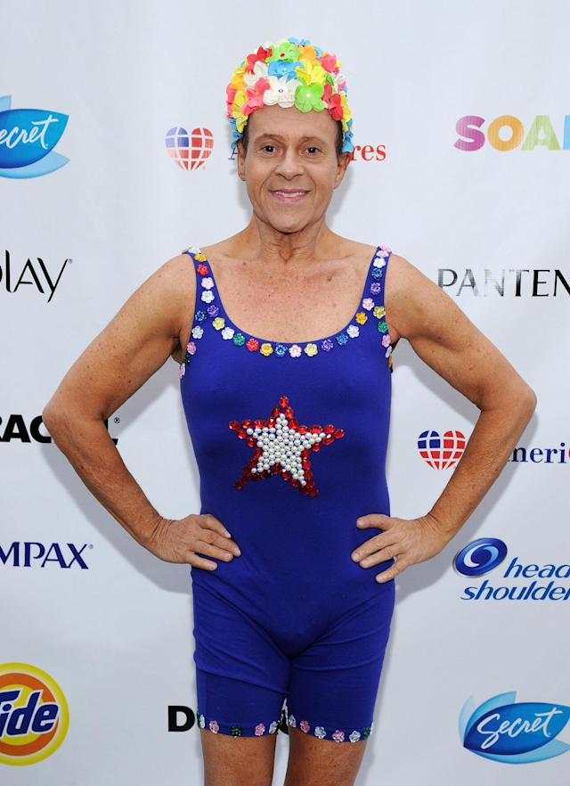 "Richard Simmons attends ""Swim for Relief"" Benefiting Hurricane Sandy Recovery at Herald Square in N.Y.C. on Oct. 9, 2013. (Photo: Ilya S. Savenok/Getty Images)"