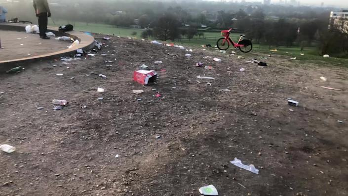 Another image showing the state of Primrose Hill. (SWNS)