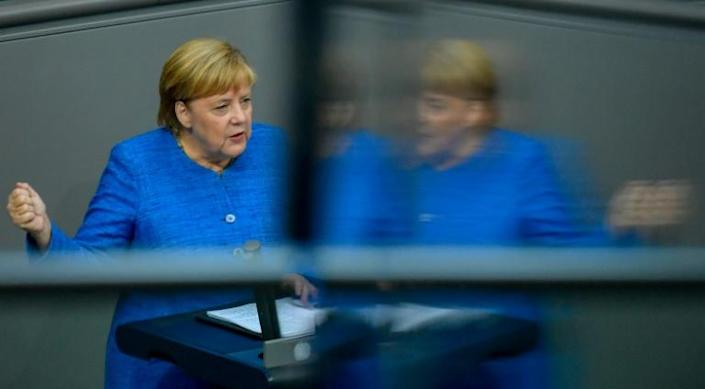 In the event of a no-deal Brexit, German Chancellor Angela Merkel said Berlin was prepared for a disorderly divorce (AFP Photo/John MACDOUGALL)