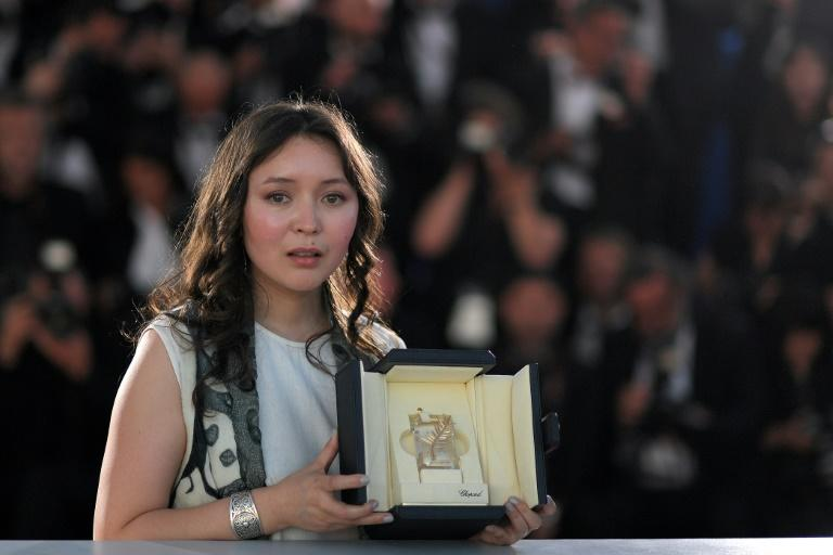 "Kazakh actress Samal Yeslyamova won best actress for her part in ""Ayka"" at Cannes"