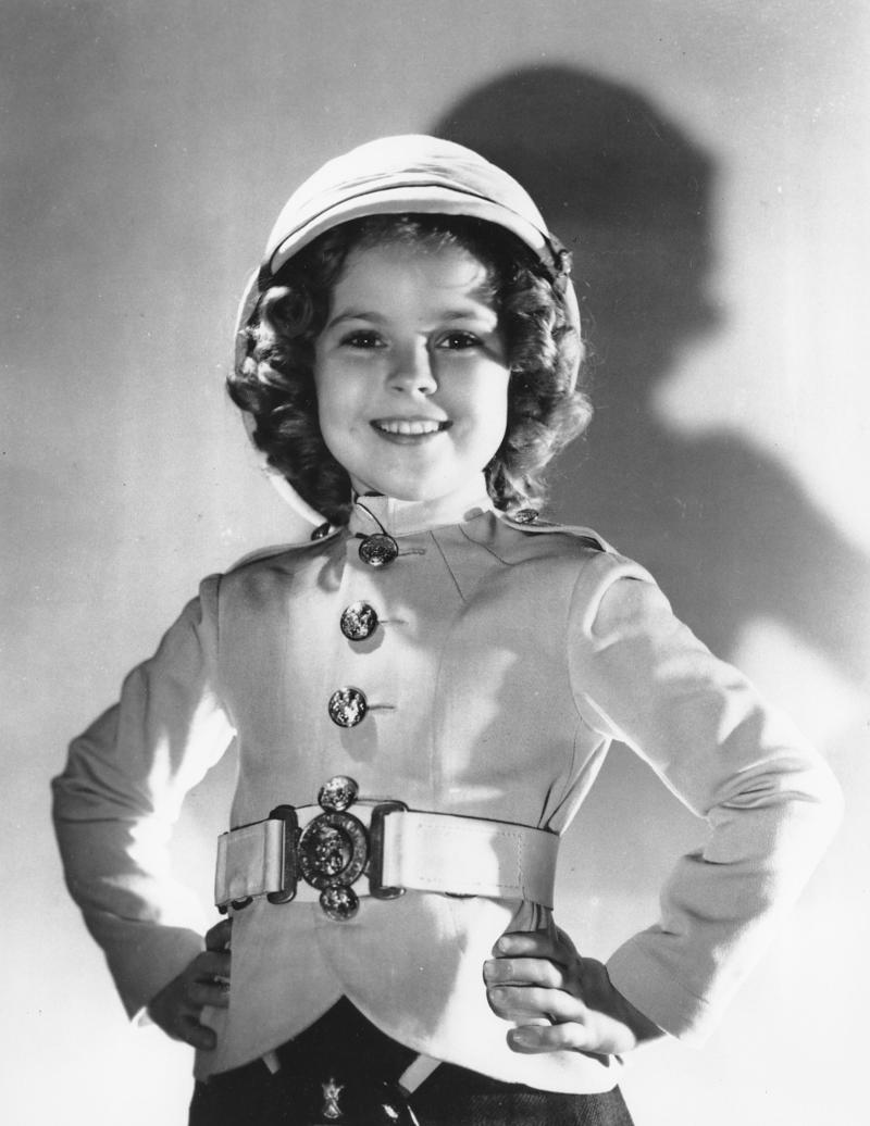 "FILE - In this undated file publicity photo, actress Shirley Temple is shown as she appeared in ""Wee Willie Winkie"" in 1937. Ms. Temple, who was born in 1928 and began acting at the age of three, received an honorary Academy Award in 1934 for her contributions as a child film star. (AP Photo, File)"