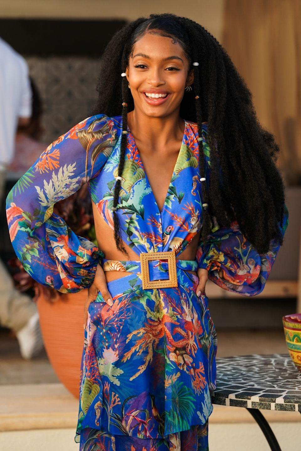"""<p>Yara Shahidi has been making waves with her hair ever since her debut on the hit television show <em>Black-ish.</em> The 21-year-old actress got her own spin off show<em> Grown-ish</em> in 2018, where her hair is always being highlighted On the show, her character Zoey can be seen wearing anything from her natural fro to bantu knots to exquisite locs fastened with beautiful charms. In an interview with the <a href=""""https://www.today.com/video/-black-ish-star-yara-shahidi-on-why-she-loves-her-hair-1483232323892"""" rel=""""nofollow noopener"""" target=""""_blank"""" data-ylk=""""slk:Today Show"""" class=""""link rapid-noclick-resp""""><em>Today Show</em> </a> in 2019, Yara said, """"I can't help but take up space when my hair is out. It constantly serves as a reminder that I deserve to take up the space that I am in.""""</p>"""