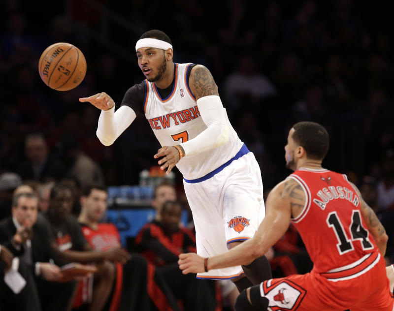 Injured Anthony will sit out Knicks' last 2 games