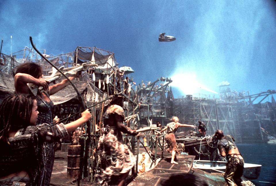 """A still from the 1995 film 'Waterworld'.<span class=""""copyright"""">Mary Evans—Ronald Grant/Everett Collection</span>"""