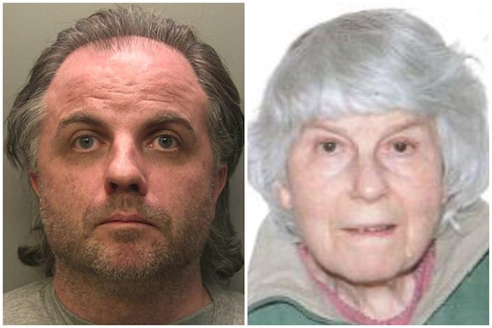Tarver, left, was found guilty of murdering his mother Angela, right. (PA/Surrey Police)