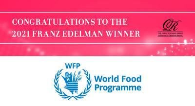 Food Aid Amid an Emergency Response: United Nations World Food Program (WFP) Receives the Edelman INFORMS 2021 Award