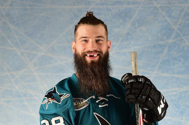 "LOS ANGELES, CA – JANUARY 29: <a class=""link rapid-noclick-resp"" href=""/nhl/players/3358/"" data-ylk=""slk:Brent Burns"">Brent Burns</a> #88 of the <a class=""link rapid-noclick-resp"" href=""/nhl/teams/san/"" data-ylk=""slk:San Jose Sharks"">San Jose Sharks</a> poses for a portrait prior to the 2017 Honda NHL All-Star Game at Staples Center on January 29, 2017 in Los Angeles, California. (Photo by Harry How/Getty Images)"