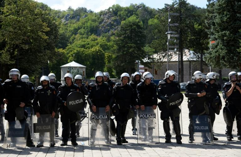 Riot police have been deployed around the monastery (AFP/SAVO PRELEVIC)