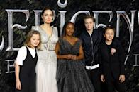 """<p>Angelina Jolie has three biological children (as well as her three adopted children) and she gave birth to each of them via c-section. Shiloh Nouvel was breech, and as a result was born by caesarean in a hospital in Namibia in 2006. Twins Knox Leon and Vivienne Marcheline were born in the same way two years later, and the actress has since spoken about how """"fascinating"""" she finds the medical capability.</p><p><a href=""""https://www.vanityfair.com/news/2008/05/angelina-twins"""" rel=""""nofollow noopener"""" target=""""_blank"""" data-ylk=""""slk:Speaking to Vanity Fair"""" class=""""link rapid-noclick-resp"""">Speaking to Vanity Fair</a>, she said: """"I had a C-section, and I found it fascinating. I didn't find it a sacrifice, and I didn't find it a painful experience. I found it a fascinating miracle of what a body can do."""" </p>"""