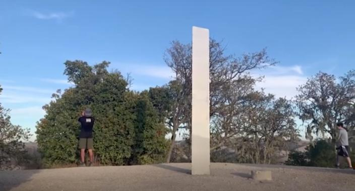 A third monolith has now been spotted at Pine Mountain in Atascadero, California.