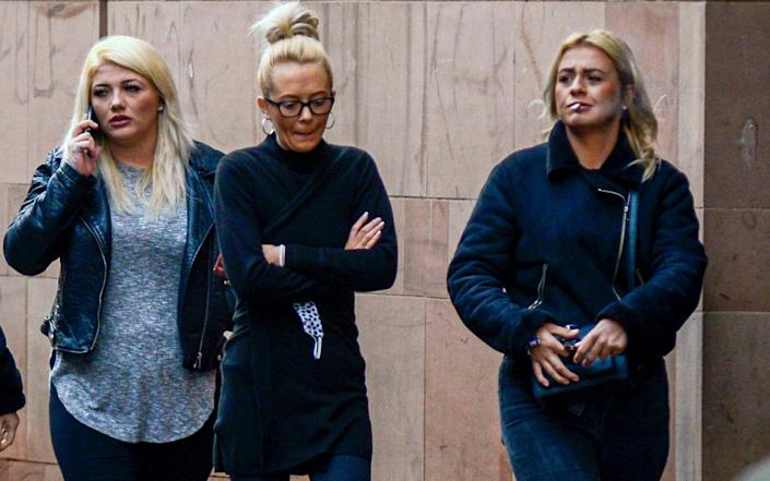 L-R) Single mothers Chloe Cummings, Toni Tyler and Donna Goulding, who all admitted affray at Newcastle Crown Court