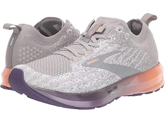 """$150, Zappos. <a href=""""https://www.zappos.com/p/brooks-levitate-3-white-purple-cantaloupe/product/9305418/color/836850"""" rel=""""nofollow noopener"""" target=""""_blank"""" data-ylk=""""slk:Get it now!"""" class=""""link rapid-noclick-resp"""">Get it now!</a>"""