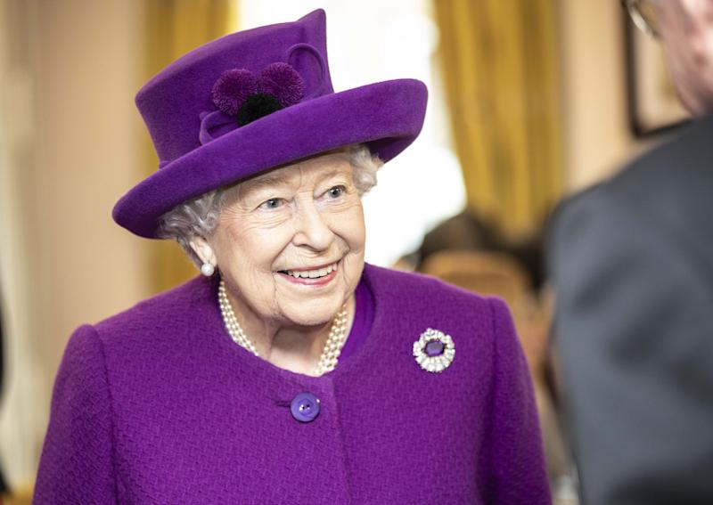 AYLESFORD, ENGLAND - NOVEMBER 06: Queen Elizabeth II talks with residents in the new Appleton Lodge care facility run by the RBLI during a visit to the Royal British Legion Industries village to celebrate the charity's centenary year on November 6, 2019 in Aylesford, England. (Photo by Richard Pohle - WPA Pool/Getty Images)