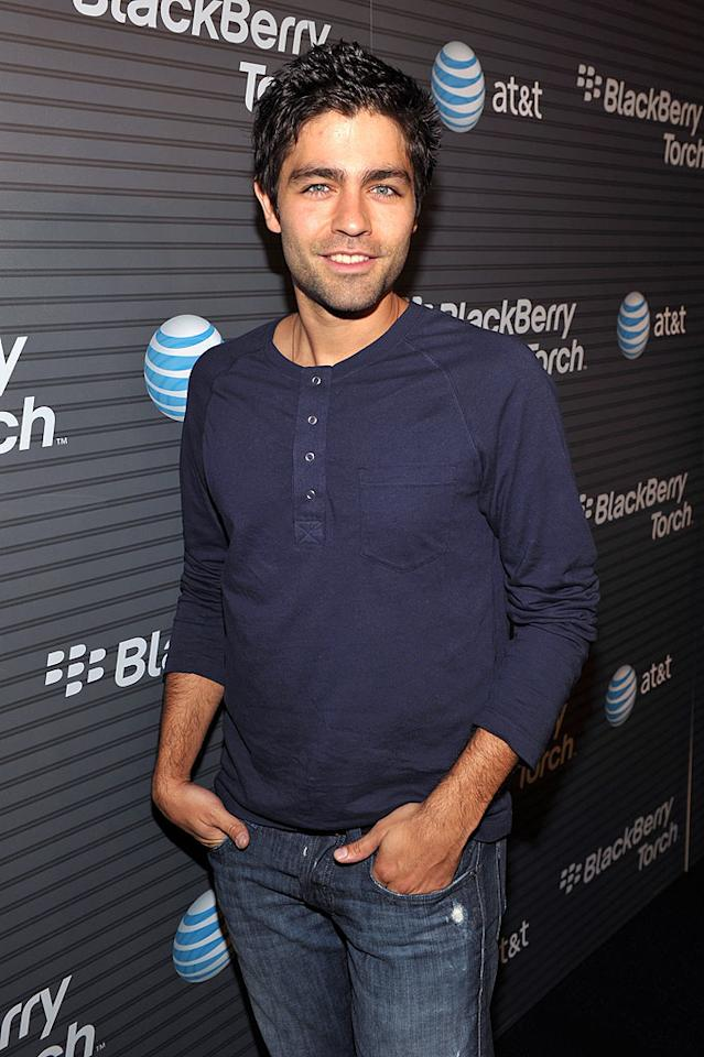 "Sans his ""Entourage,"" Adrian Grenier hit the red carpet solo. John Shearer/<a href=""http://www.wireimage.com"" target=""new"">WireImage.com</a> - August 11, 2010"