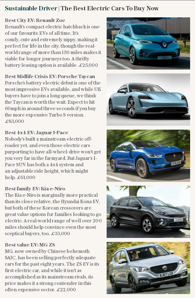 Sustainable Driver | The Best Electric Cars To Buy Now